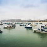 Puerto Lopez, Manabi, playa, embarcaciones, pesqueros, costa