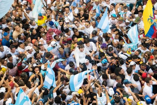 Protestas en guayaquil 2015