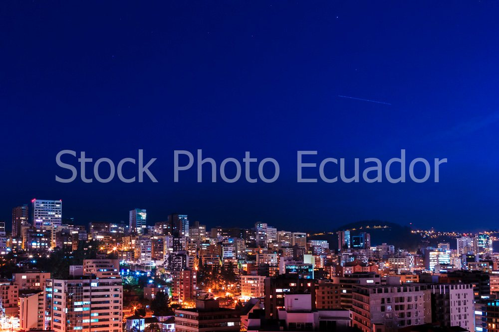 Quito Nocturno / Ciudad de Colores / Carita de Dios Stockipic